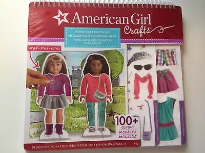 New American Girl Craft Paper Doll Fashion Set Fun Kit