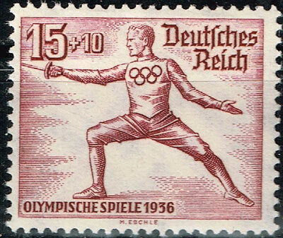 Germany Third Reich Berlin Summer Olympic Games stamp 1936 Fencing MLH