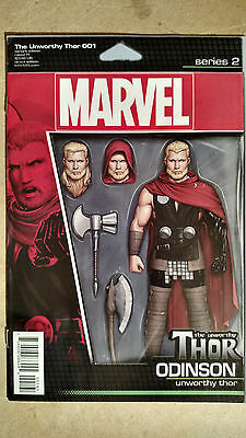 Unworthy Thor #1 First Print Action Figure Variant Cover Marvel Comics (2016)