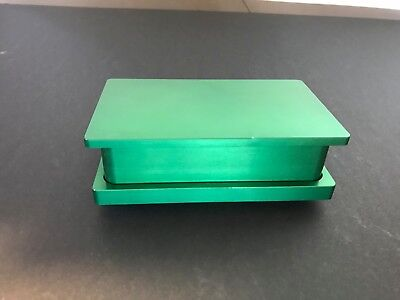 "New Rosin Tech Pre Press Mold 2"" x 4"" Flower Pressing Mold Anodize Green"