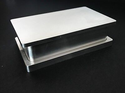 "New Rosin Tech Pre Press Mold 2"" x 4"" Flower Pressing Mold Raw Aluminum"