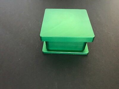 "New Rosin Tech Pre Press Mold 2"" x 2"" Flower Pressing Mold Green Anodize"