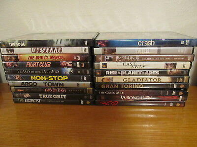 Lot of 20 Various ACTION / DRAMA DVD Movies - Great Condition - Good Movies (m4)