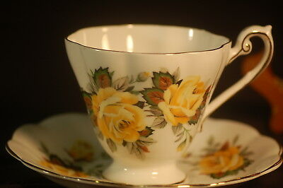 Royal Standard Yellow Roses Cup and Saucer