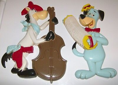 Vintage 1978 Homco Hanna Barbera Quick Draw & Huckleberry Hound Wall Plaques Gc