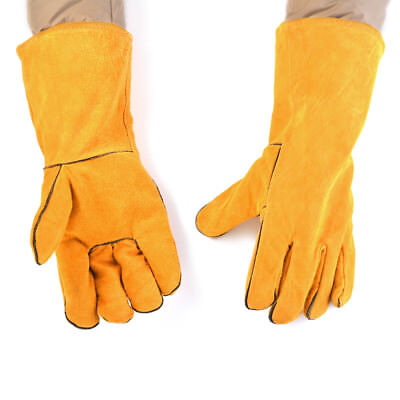 Welding Gloves Heat Protection Guard Working Shield Cowhide Hand Cover FA314
