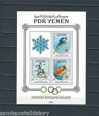 Middle East - Yemen Kingdom mnh stamp sheet - Winter Sports - Skiing - #1