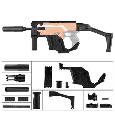 Worker Mod Kriss Vector Kit Stock Picatinny Combo 10 Items for Nerf Toy BB