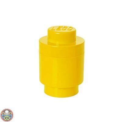 Lego Tg: 4.6X9.2X4.3 Cm Giallo Storage Brick Lunch Box 1 Plastica Nuovo
