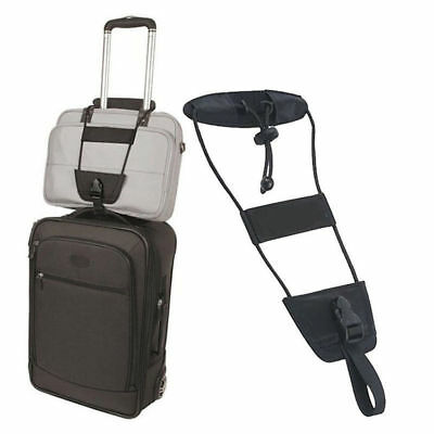 Black Bag Bungee Strap Luggage Backpack Carrier Add A Bag Travel Helper One Size