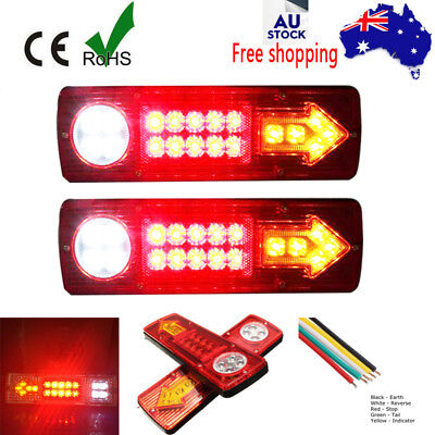 Led Tail Light Truck Ute Trailer Stop Indicator Lights 12V/24V Waterproof Plus