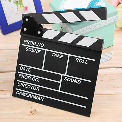 Director Video Scene Clapperboard TV Movie Clapper Board Film Slate Cut Prop JY