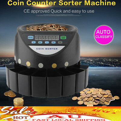 Australian Coin Sorter Display Digital Automatic Electronic Counter Machine TK