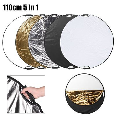 110cm 5in1 Photo Photography Light Diffuser Mulit Collapsible Reflector 43'' TK