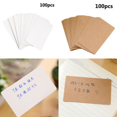 100pcs blank kraft paper business cards word card message cards diy 100pcs blank kraft paper business cards word card message cards diy gifts hot reheart Image collections