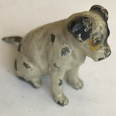 Antique Miniature Austrian Cold Painted Bronze Dog Terrier Manner Of Bergman