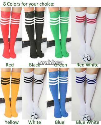Stripe Soccer Football Running Knee High Tube Socks Sports For Men Ladies Women