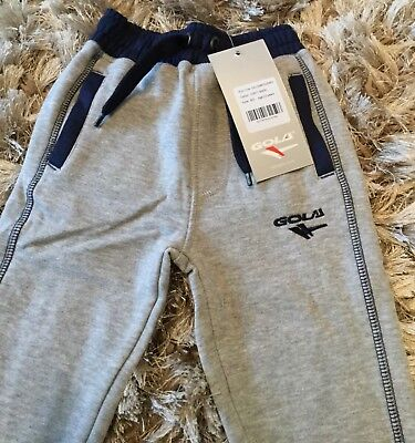 Child's Gola joggers navy or grey aged  2/3, 5/6 jogging bottoms fleece lined