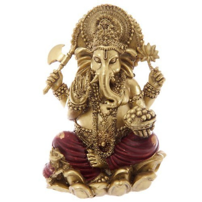 Gold and Red Ganesh Statue 16cm