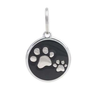 PetTouchID Smart Dog ID Tag GPS QR NFC Code Paws Black 34mm