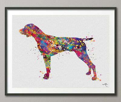 GERMAN POINTER DOG MUG OFF TO THE DOG SHOW WATERCOLOUR PRINT SANDRA COEN ARTIST
