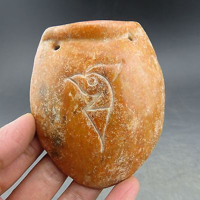 China,jade,collection,hand-carved,red mountain culture,turtle shell,pendant F15
