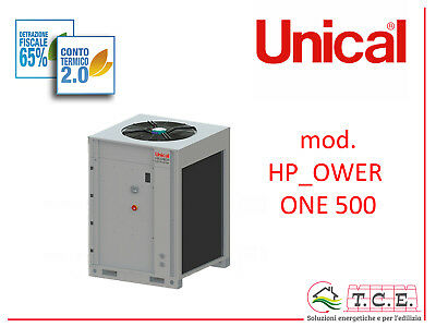 Pompa di calore aria acqua full inverter UNICAL mod. HP_Ower 500 industriale