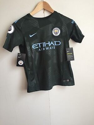 Manchester City Nike Prem 17/18 Third Kids Shirt - Various Sizes + Players - New
