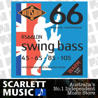 Rotosound RS66-LDN Nickel Swing Bass Guitar Strings 45 - 105 New