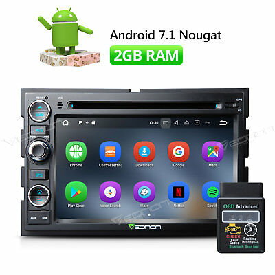 """OBD2 7""""Android 7.1 Car DVD GPS for Ford F-150 1080P Navi Audio 2GB RAM Radio"""