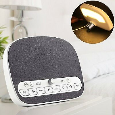 Sound Machine Sleep Therapy, White Noise Machine with Night Light for Sle... New