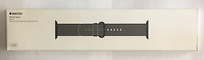 Apple Watch Woven Nylon 38mm Black Band 316L Stainless Steel Buckle - MM9L2AM/A