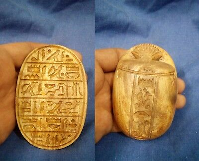 Scarab Egyptian Ancient Amulet Stone  Rare  Carved