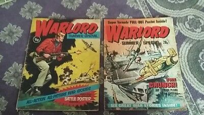 Vintage Retro Bronze Age Warlord Comics 1975 and 77 Summer Special Rare