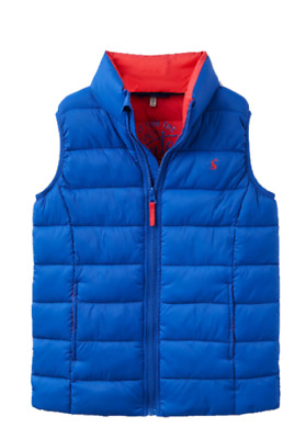 Joules Junior Crofton Boys Padded Gilet - Bold Blue