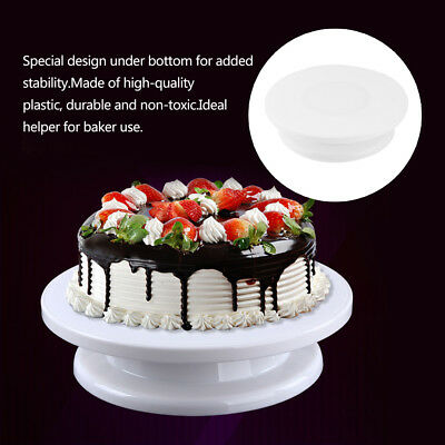 360° Cake Making Turntable Rotating Decorating Platform Stand Display Af