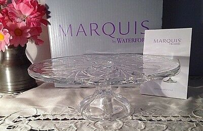 Marquis By Waterford Newberry Footed Cake Plate, New In Box!!