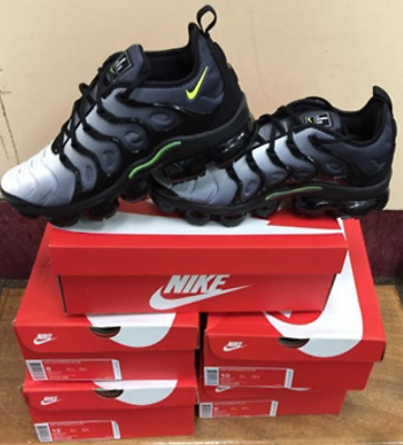 991b8f069bf43 Nike Air VaporMax Plus Black Volt White 924453 009 Authentic All Sizes 8~12