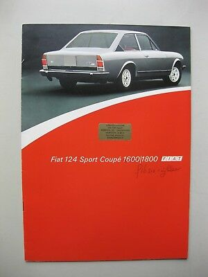Fiat 124 1600 1800 Sport Coupe prestige brochure Prospekt Dutch txt 1975 24pages