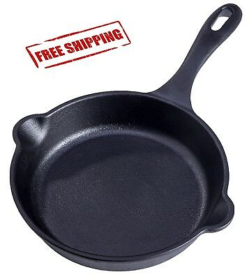 Pre-seasoned Cast Iron Skillet Set Stove Oven Fry Pans Pots Cookware Pan Round