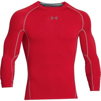 Under Armour HeatGear Compression LS - Men's Large - Red - NEW
