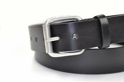 New Men Boys Leather Belt For Jeans Trousers In Black All Sizes