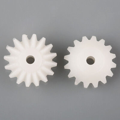 20PCs Plastic Bevel Gear Right Angle Drive Plastic Gears 16T Hole 2mm Toy DIY