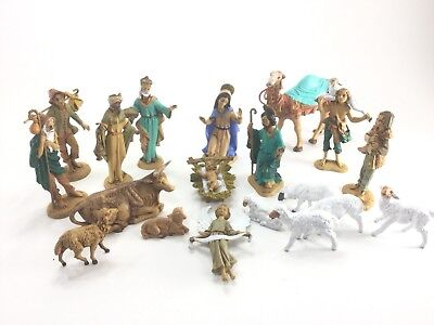 Vintage Depose Italy Fontanini Nativity Lot Of 19 Pieces Majority Spider Marked