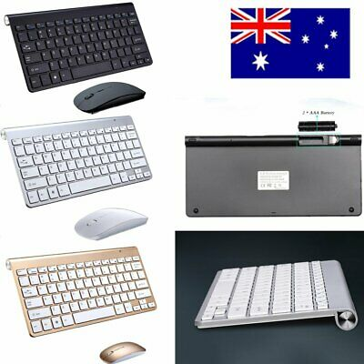 Slim Wireless Keyboard + Cordless Optical Mouse Combo for PC Laptop MAC Windows