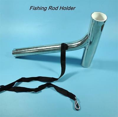2pcs Polished Stainless Steel Outriggers Boat Fishing Rod Holder Rack with Strap