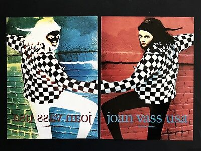 1990 Vintage Print Ad JOAN VOSS USA Woman's Fashion Image Chic Photo