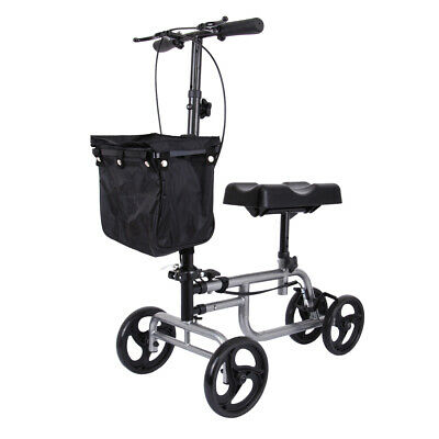 Portable Medical Commode Wheelchair Bedside Toilet&Shower Chair Aluminum Frame