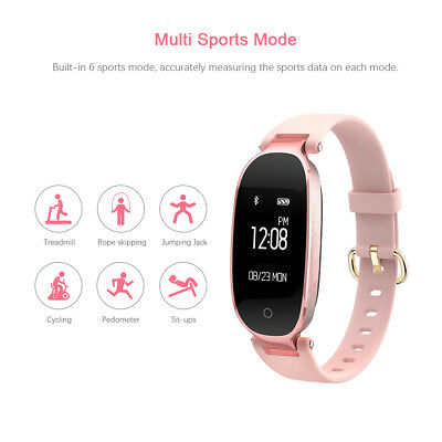 Bluetooth Smart Watch Elegant Women Heart Rate Bracelet Fitness Activity Tracker