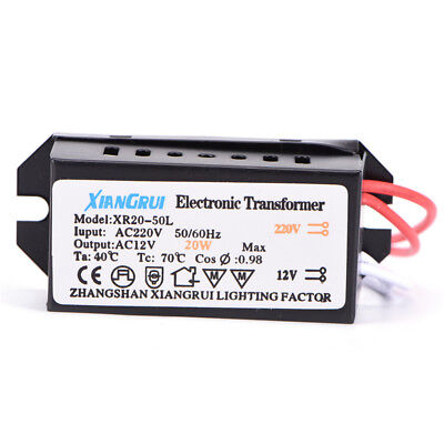 20W AC 220V to 12V  LED Power Supply Driver Electronic Transformer UK